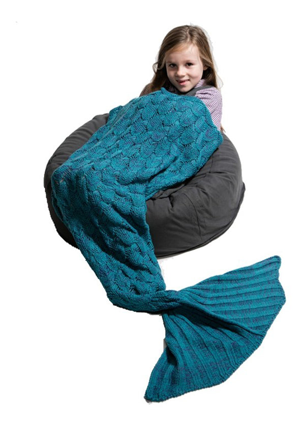 Mermaid Tail Blanket-Sea Green