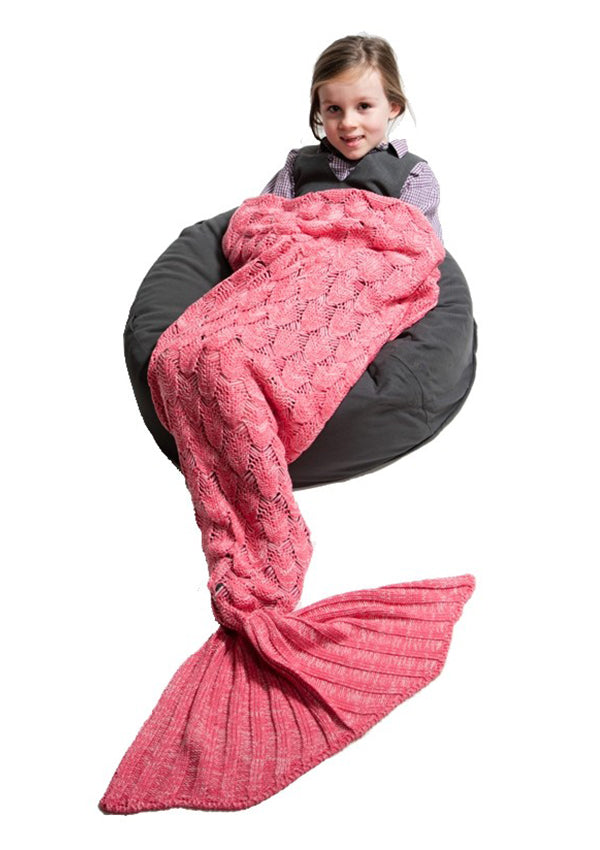 Mermaid Tail Blanket -Seashell Pink