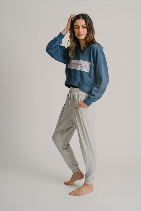 Cocooning Terry Cropped Sweater