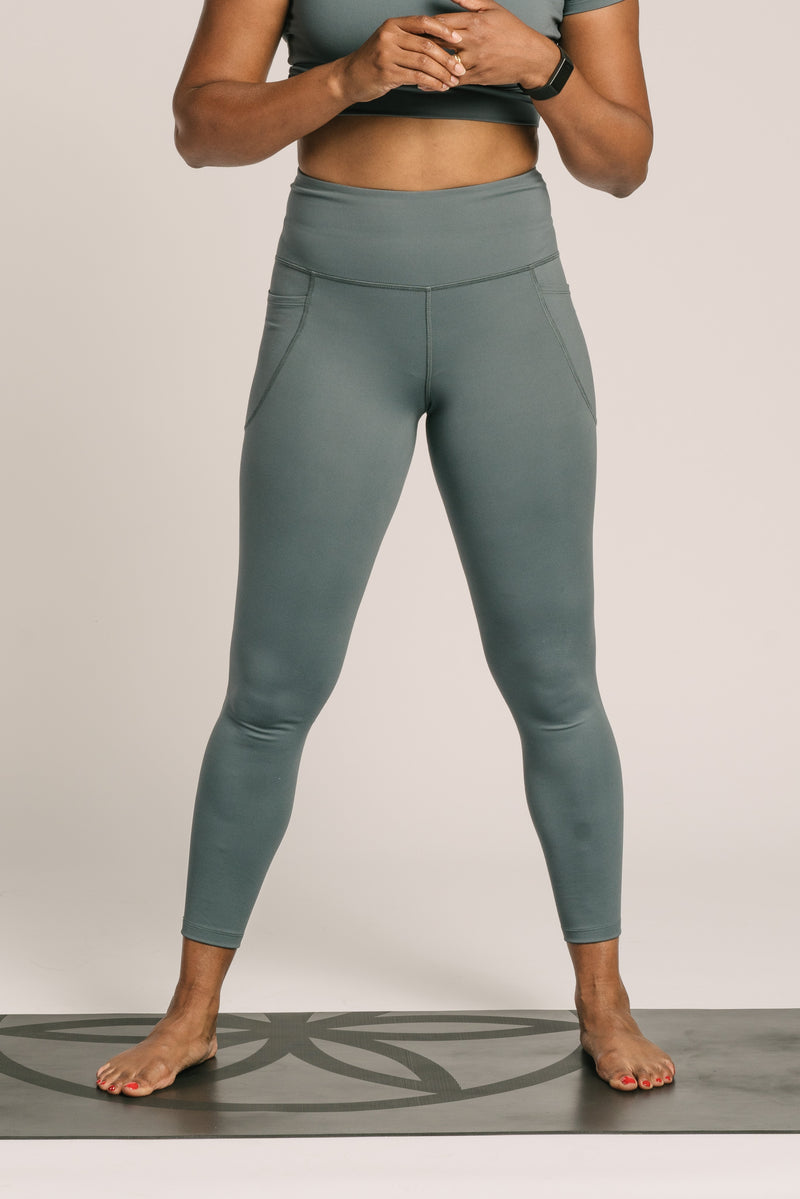 High Rise Anaïs Legging - Slate