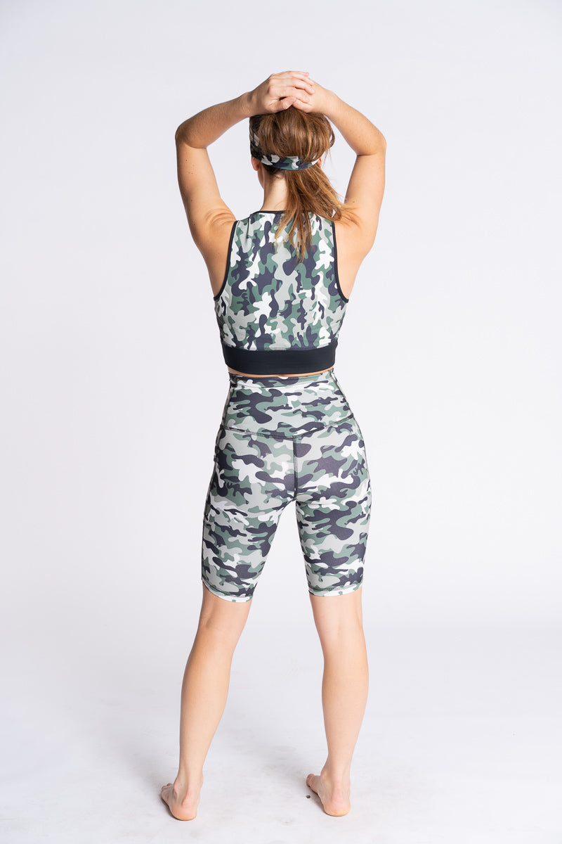 High Rise Camo Bike Shorts