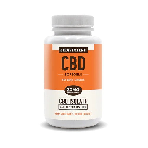 CBD Isolate Softgels – 30mg CBD – 60 Count