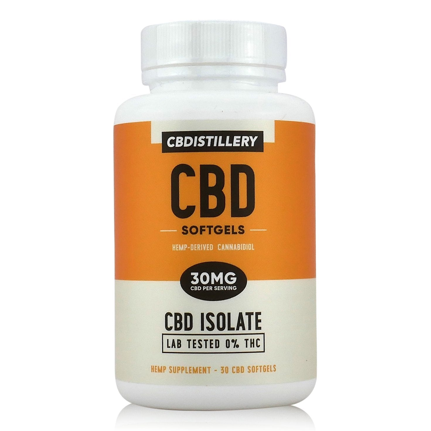THC Free CBD Isolate Softgels – 30mg – 30 Count