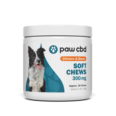 CBD Soft Chews for Dogs, Chicken & Bacon
