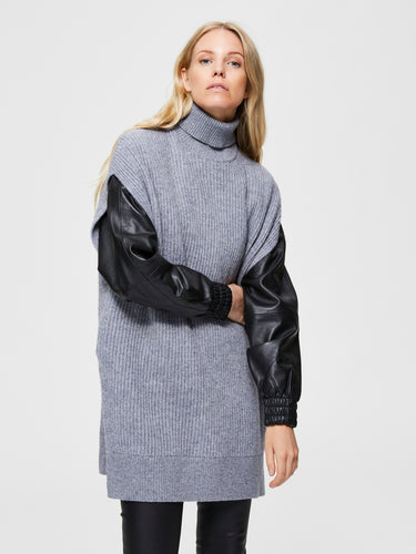 Loose Fit Tunica-Jumper Grey