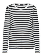 Load image into Gallery viewer, Striped Long Sleeved T Shirt - Black/White