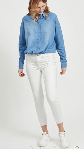 Cropped Skinny Fit Jeans White