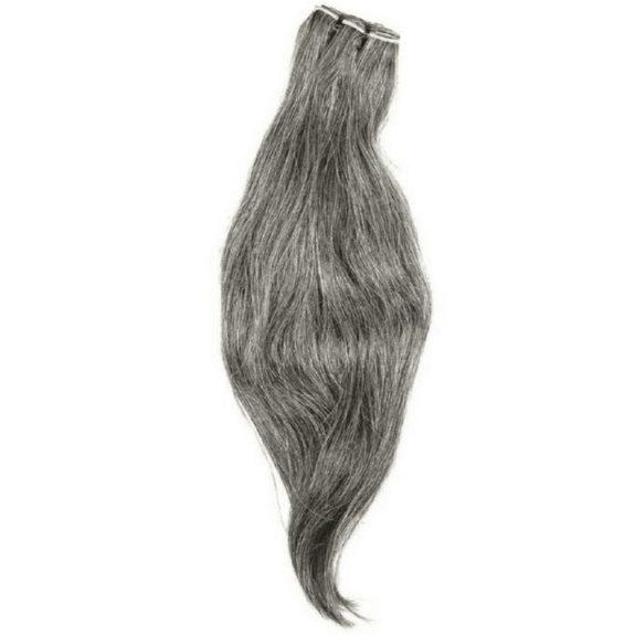 Vietnamese Natural Gray Hair Extensions - Client Boss Hair Couture