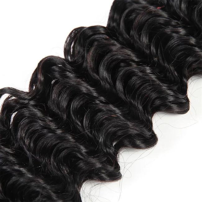Copy of Brazilian Deep Wave Bundle Deals with Free Closure - Client Boss Hair Couture