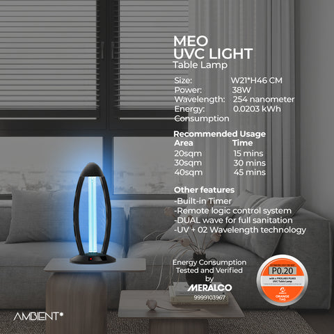 MEO UVC Disinfectant Table Lamp