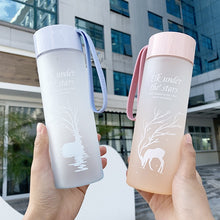 Load image into Gallery viewer, 500ml BPA Free Water Bottle Plastic Sport Scrub Leak Proof Drinking My Bottle Portable Fashion Drinkware Tour Bottles for Lovers