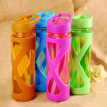 Load image into Gallery viewer, 580ML Seal Straw Sports Water Bottle Non-slip Heat Resistant Plastic Protein Powder Shaker Fitness Drinkware