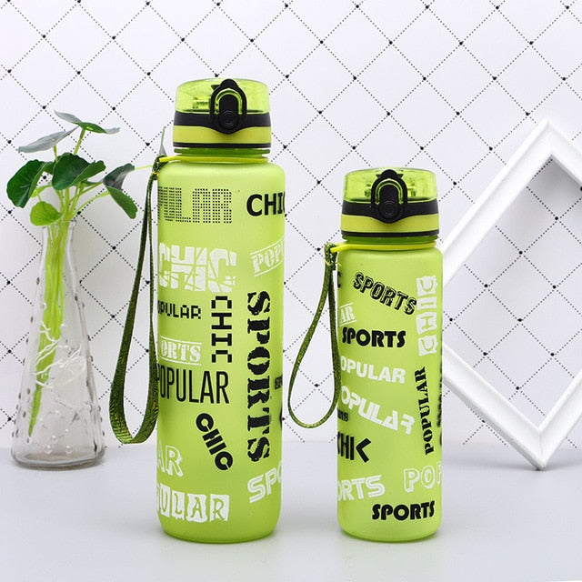 New Summer Shaker Sports Water Bottles  Drink Camping Tour Outdoor Bottle for Water 600/1000ml Plastic Tritan Drinkware BPA Free