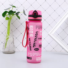 Load image into Gallery viewer, New Summer Shaker Sports Water Bottles  Drink Camping Tour Outdoor Bottle for Water 600/1000ml Plastic Tritan Drinkware BPA Free