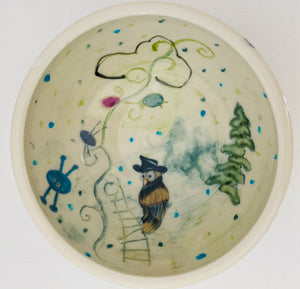 my fav bowl, illustrated imaginary world, one of a kind