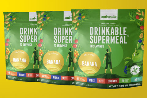 Ambronite - 3 x 1600 kcal Bundle, Banana, 10% Off