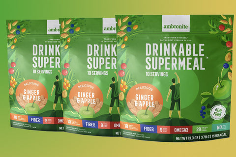 Ambronite - 3 x 1600 kcal Bundle, Ginger & Apple, 10% Off
