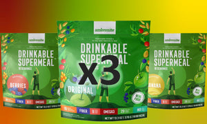 Ambronite Supermeal - 30 servings Bundle - Original, Banana, Berries