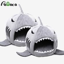 Load image into Gallery viewer, Dog House Shark Washable House Pet Bed Shark Dog Bed Cat Beds & Mats House Sleeping Sofa Bed Removable Cushion S/M For Dog Cat
