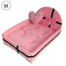 Load image into Gallery viewer, Cute Plush Cushion Pet Dog House Nest With Mat Warm Small Medium Dogs Pet Removable Mattress Cat Bed Dog Puppy Kennel