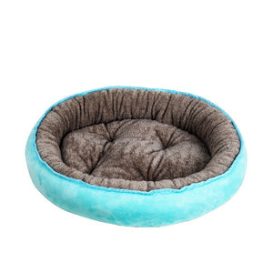 Dog Bed Warming Kennel Washable Pet Floppy Extra Comfy Plush Rim Cushion and Nonslip Bottom dog beds for large  small dogs House