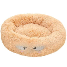 Load image into Gallery viewer, Round Plush Cat Bed Long Plush Super Soft Dog Bed For Small Dogs Cats Nest Winter Warm Sleeping Bed Lounger Cat House Puppy Mat