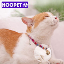 Load image into Gallery viewer, HOOPET Pet Collar Dog Neck Cat Adjustable Bell Necklace For Puppy Fashion Head Pendant Necklet Animal Supplies