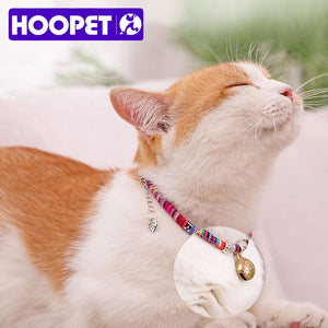 HOOPET Pet Collar Dog Neck Cat Adjustable Bell Necklace For Puppy Fashion Head Pendant Necklet Animal Supplies