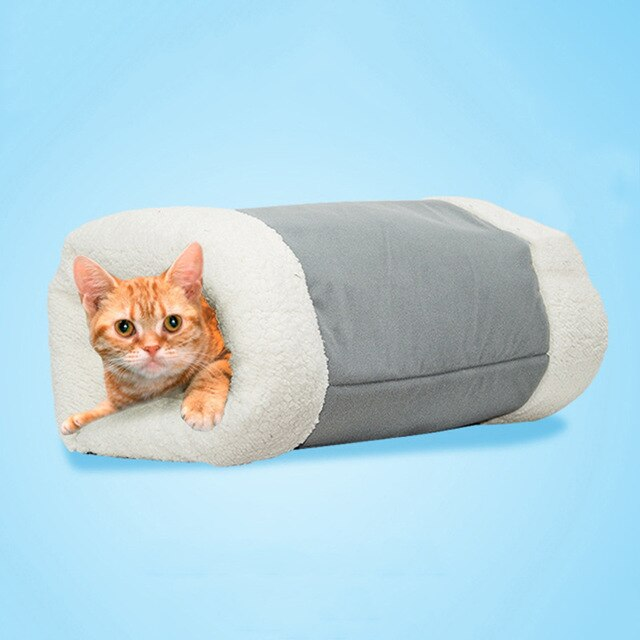 Winter Warm Puppy Sleeping Nest Mats 2 in 1 Pet Bed House for Small Dogs Mat Cat Tunnel Soft Zipper Dog Cushion Pad Pet Products