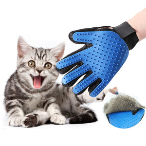 Dropshipping Pet Cat Grooming Gloves Dog Hair Remover Gentle Silicone Deshedding Brush Cleaning accessories gant toilettage chat