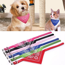 Load image into Gallery viewer, Puppy Neckerchief Adjustable Pet Dog Cat Neck Bandana Collar Scarf Accessories for Cats & Small Dogs Black Red Blue Pink Purple