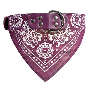 Puppy Neckerchief Adjustable Pet Dog Cat Neck Bandana Collar Scarf Accessories for Cats & Small Dogs Black Red Blue Pink Purple