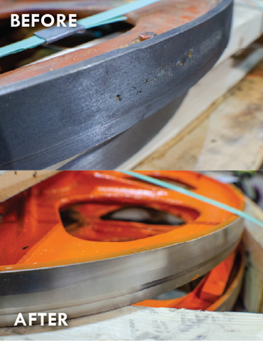 Bandsaw Repair Before and After