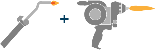 spray and fuse