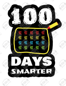 100 Days Smarter tally marks