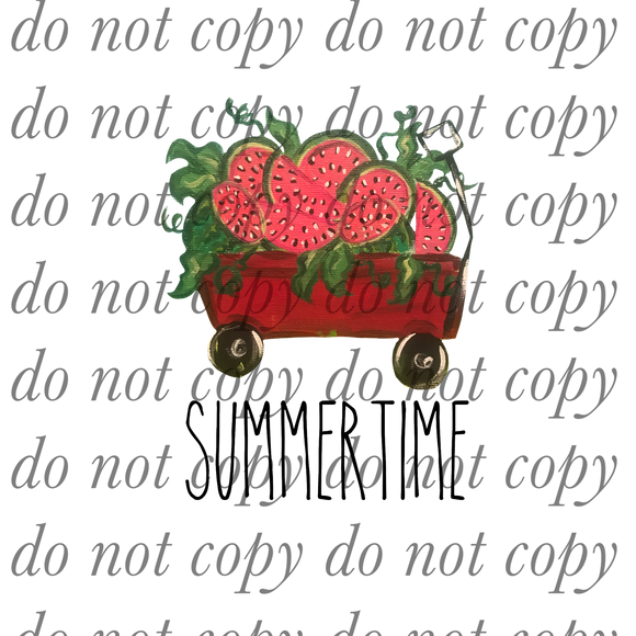 Summertime Strawberry Wagon