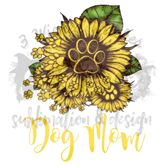 Dog Mom Sunflower