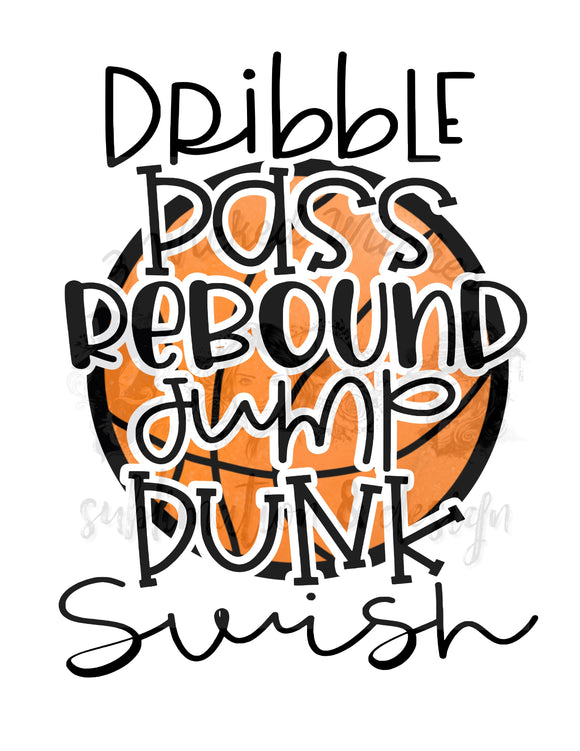 Dribble Pass Rebound Basketball Moves