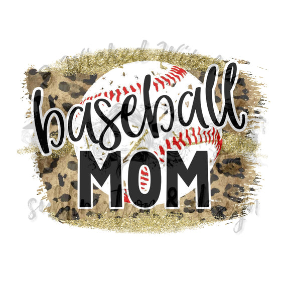 Cheetah Print Baseball Mom