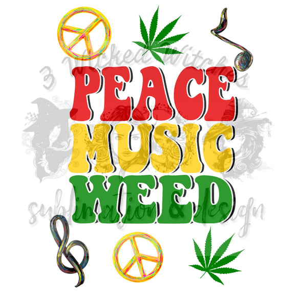 Peace music weed