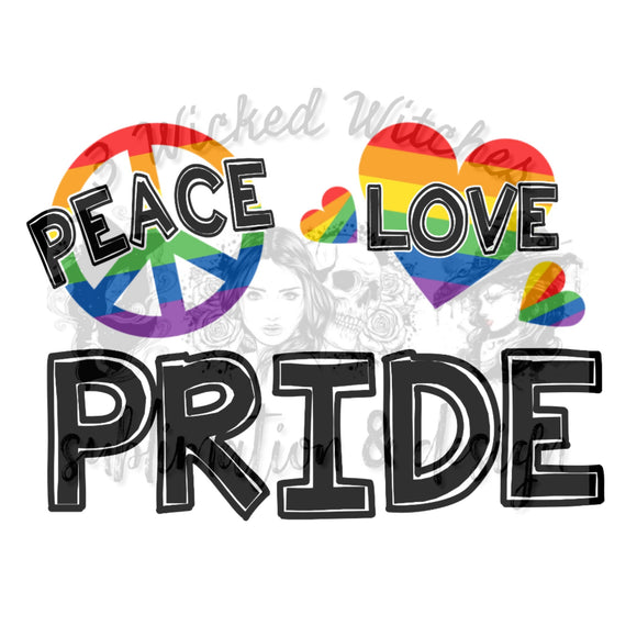 Peace love pride