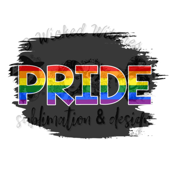 Pride black background