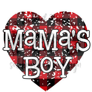 Mama's Boy Red Plaid