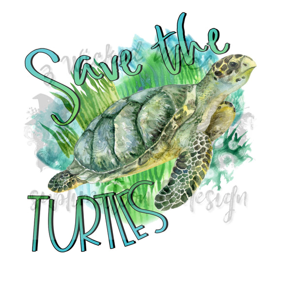 Save The Turtles grass background