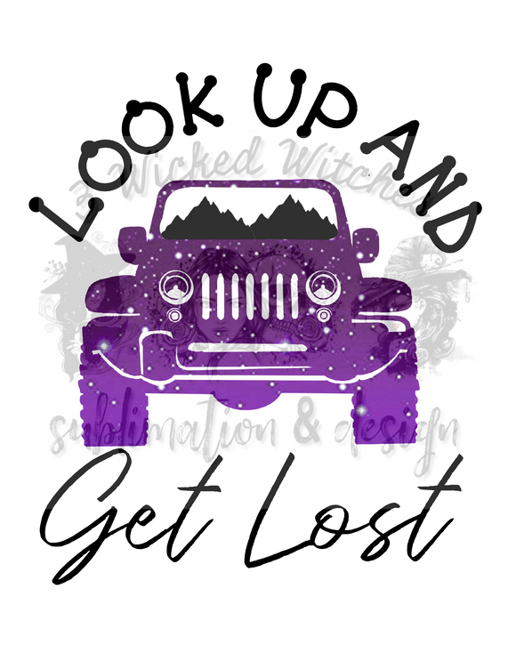 Look Up And Get Lost Jeep DIGITAL