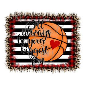 Biggest Fan Basketball Red White Black Love