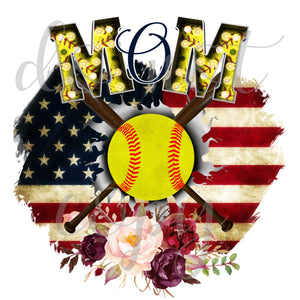 Softball Mom Flag