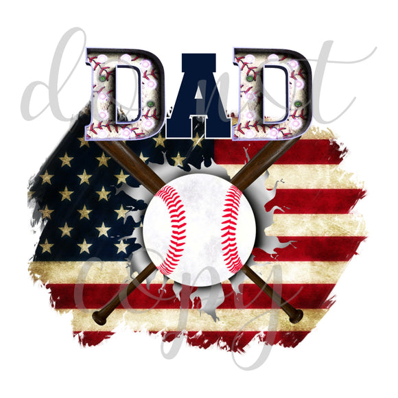 Baseball Dad Flag