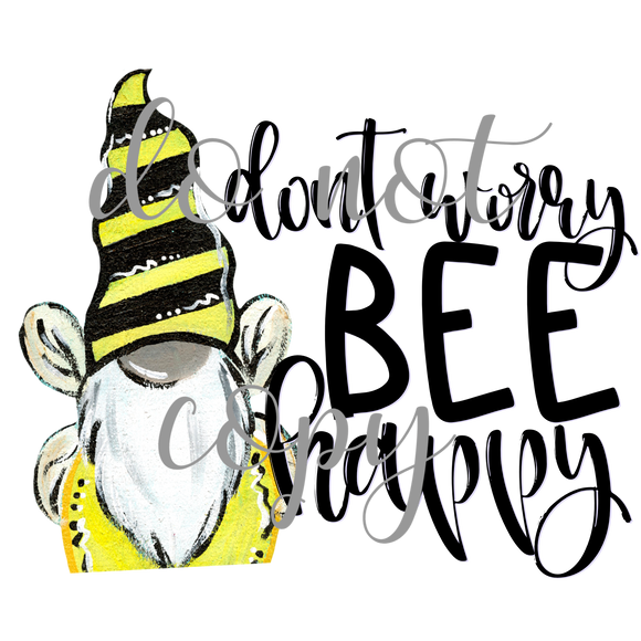 Don't worry bee happy gnome