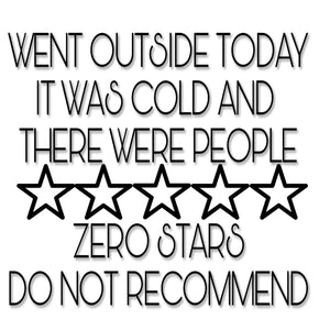Went Outside Today, Zero Stars Digital